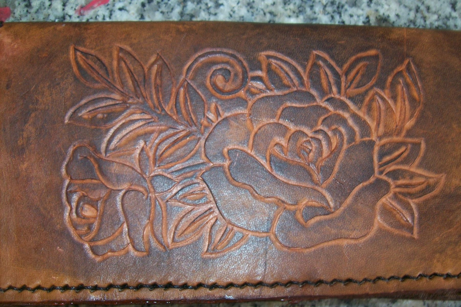 Buy A Hand Crafted Custom Leather Checkbook Cover With
