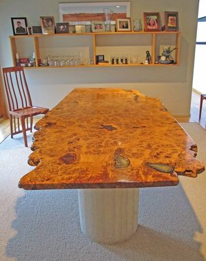 Custom Made English White Oak Burl Dining Table