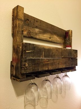 Custom Made Pallet Wine Rack
