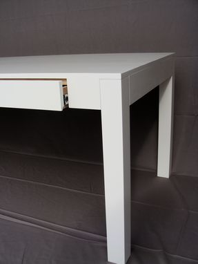 Custom Made High Gloss Parsons Desk