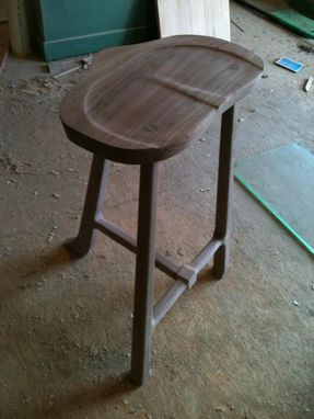 Custom Made Walnut Stool