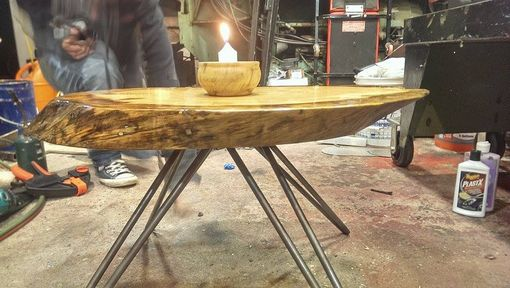 Custom Made Live Edge End Grain Coffee Table.
