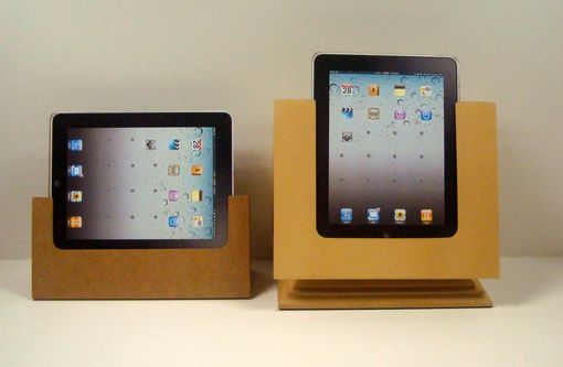 Custom Made The Tabitat Tablet Stand System For Ipad In Clear Mdf.