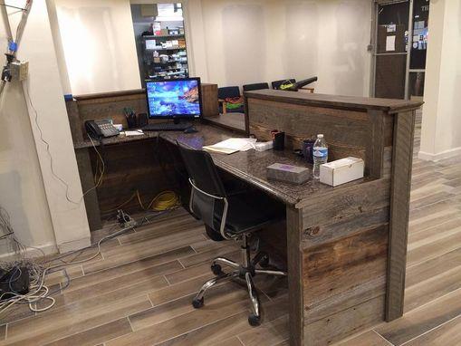 Hand Made Custom Barn Wood Reception Desk by Defiance ...
