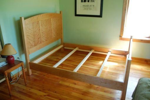 Custom Made Curly Cherry Queen Bed, Shaker Style