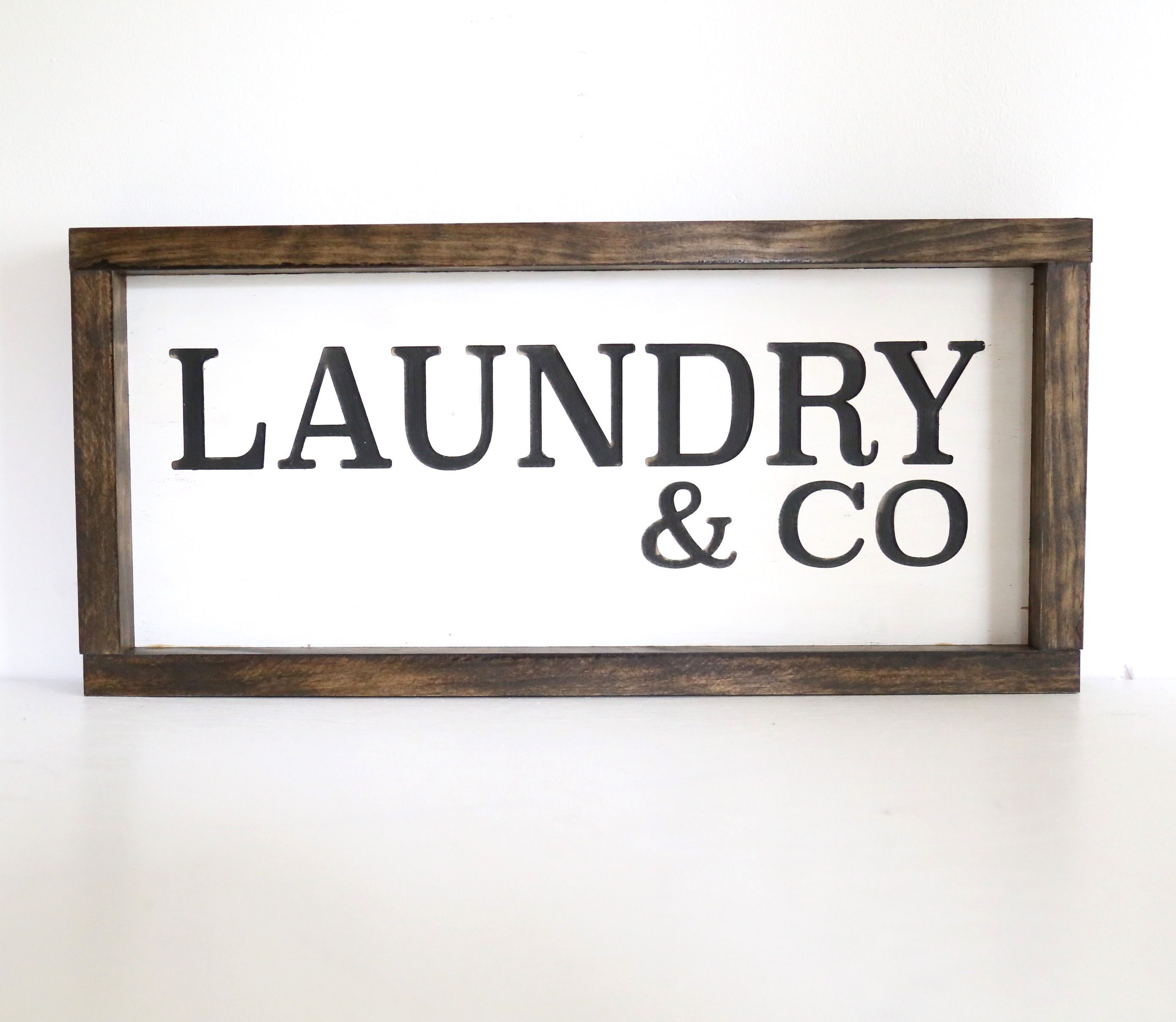 A Custom Laundry Room Wood Sign Made To Order From