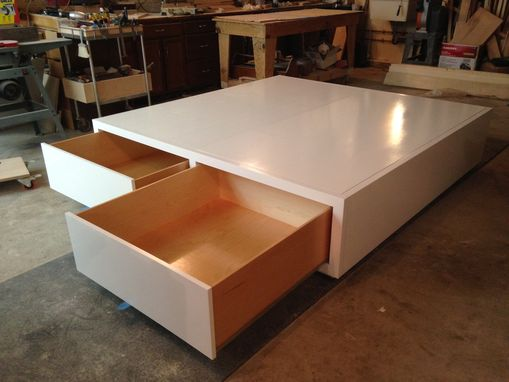 Custom Made King Size Platform Bed With Drawers
