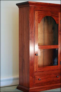 Custom Made Walnut Wall Cabinet
