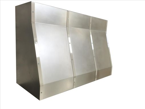 Custom Made #10 Non Directional Stainless Steel Range Hood With Brushed Straps