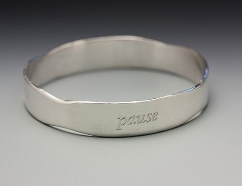 Custom Made Pause For Reflection Bracelet