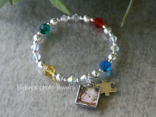 Custom Made Autism Awareness Bracelet, Autism Bracelet, Autism Jewelry, Support For Autism Jewelry