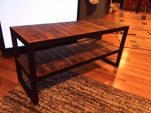 Custom Made Vintage Industrial Tv Media Console Stand