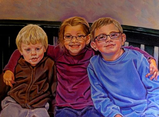 Custom Made Custom Commissioned Oil Painting ~ Children