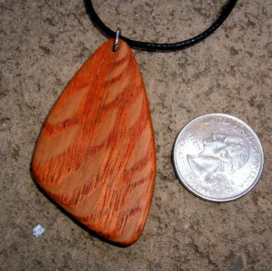 Custom Made Wood Pendant Of Leopard Wood