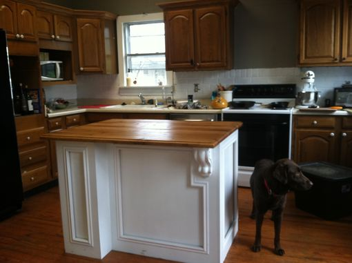 Custom Made Kitchen Island With Oak Top