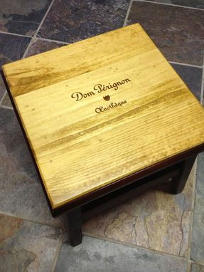 Custom Made Dom Perignon Stepping Stool