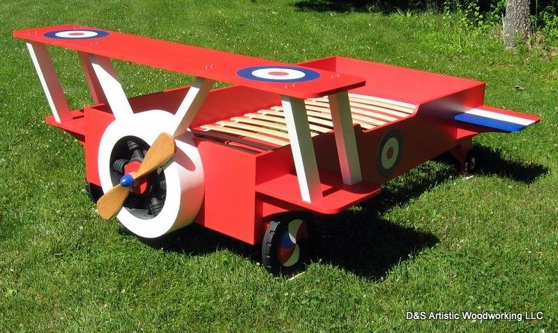 Custom Made Twin Snoopy Airplane Bed
