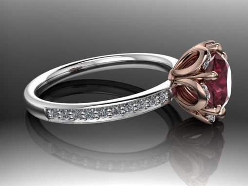 Custom Made Rika Diamond 14k Rose Gold Engagement Ring