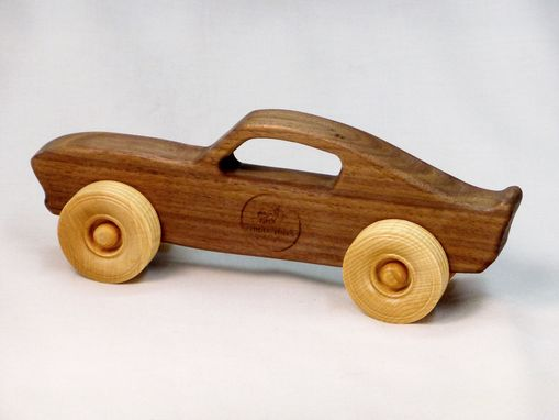 Handmade Toy Car Holder : Buy a handmade wooden toy muscle car customized with