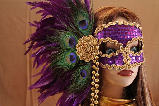 Custom Made Hand Crafted Feather Mask (Fm116)