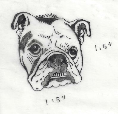 Custom Made Hand Carved Mounted Custom Pet Portrait Stamp