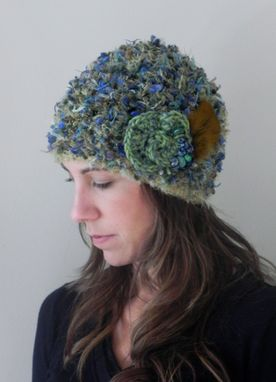 Custom Made Green  Squeeze Crochet Hat
