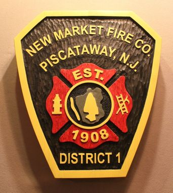 Custom Made Carved Wood Signs | Fire Dept Signs | Fire Fighter Signs | Fireman Signs | City Signs | Park Signs