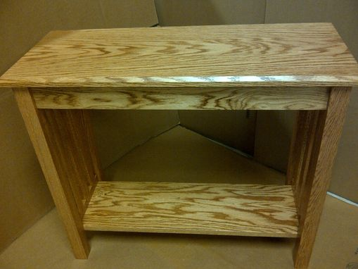 Custom Made Mission Style Oak Sofa Table