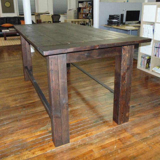 Custom Reclaimed Wood Farmhouse / Industrial Pub Height Table by Wonderland  Woodworks  CustomMade