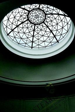 Custom Made 6' Diameter Leaded Glass Ceiling Dome.
