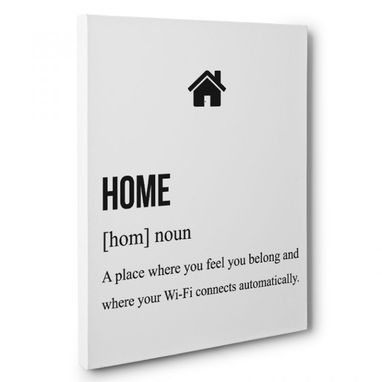 Custom Made Home Definition Canvas Wall Art