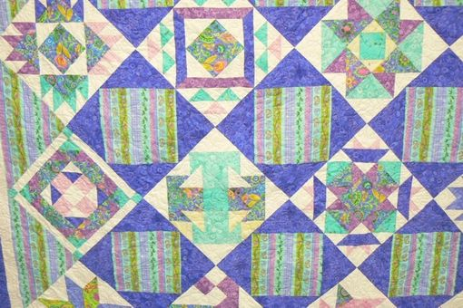 Custom Made Springtime Sampler Queen Quilt