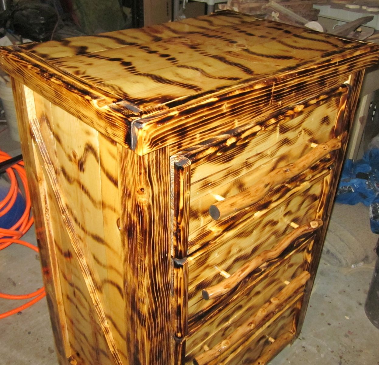Handmade Rustic Burnt Dresser By Sonoran Sandman