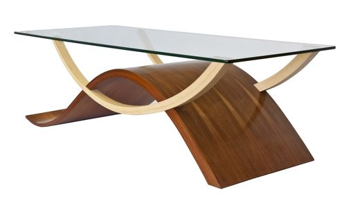 Custom Made Custom Handcrafted Wave Form Coffee Table