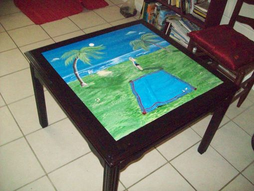Custom Made Occasional / Coffee Table Titled: Emily's Seaside Table