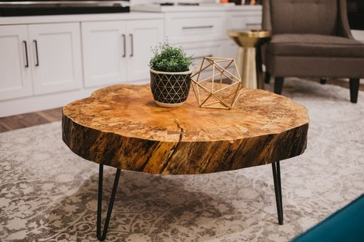 Custom Made Live Edge Coffee Table - Spalted Maple