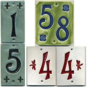 Craftsman Style Two Digit House Number Tiles By Laura Reutter