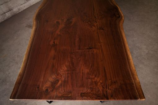 Custom Made Bookmatched Live Edge Walnut Dining Table