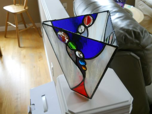Custom Stained Glass Vase With Glass Nuggets And Jewel By Chapman Enterprises Custommade Com