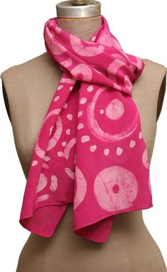 Custom Made Allover Cosmic Dot Scarf - Baby Pink & Magenta