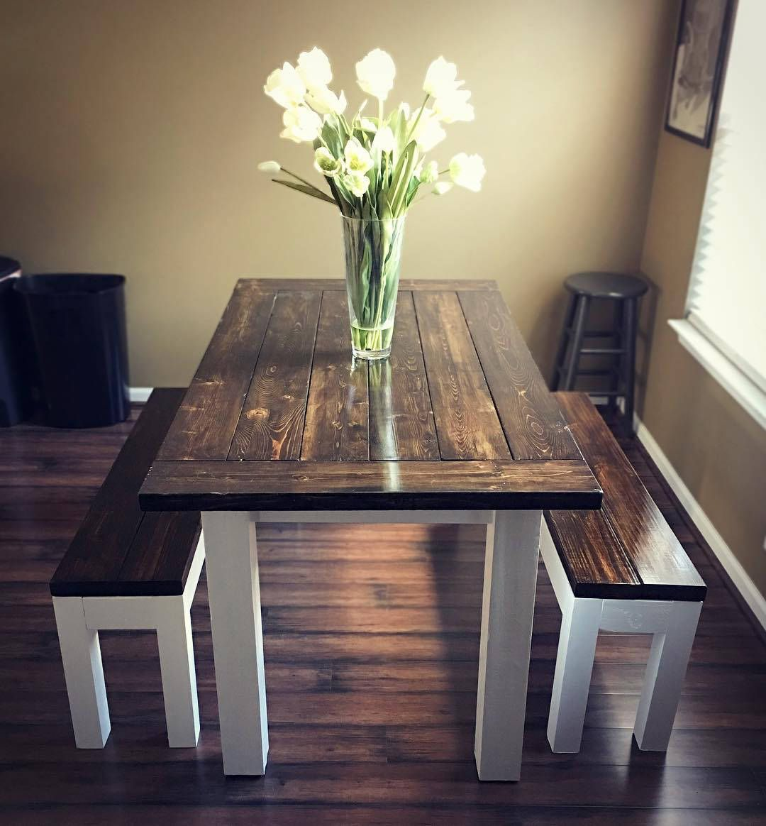 A Handmade Farmhouse Dining Table Handcrafted Rustic