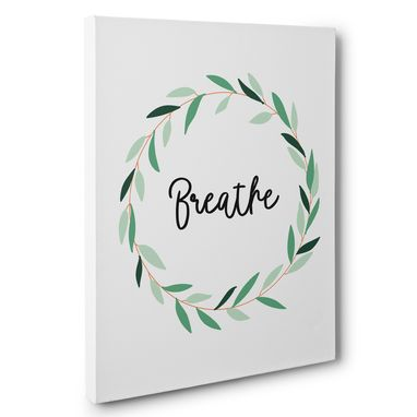 Custom Made Breathe And Leaves Home Decor Canvas Wall Art