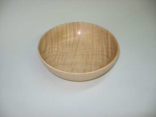Custom Made Figured Maple Bowl - 6 3/4 In. Diameter