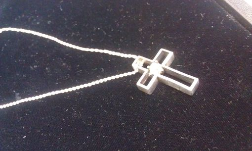 Custom Made Cross Necklace With Rough Diamond