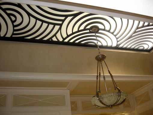 Custom Made Custom Wrought Iron Skylight Grill