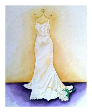 Custom Made Watercolor Wedding Dress