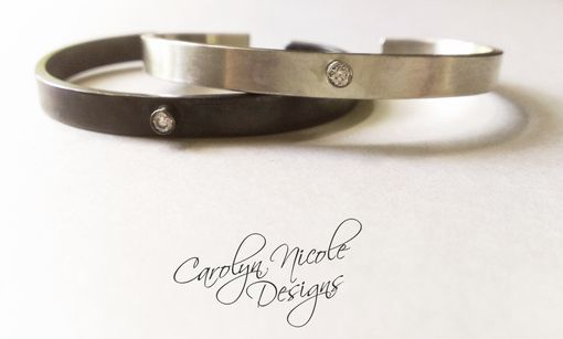 Custom Made Oxidized (Or Not) Sterling Silver Cuff Bracelet