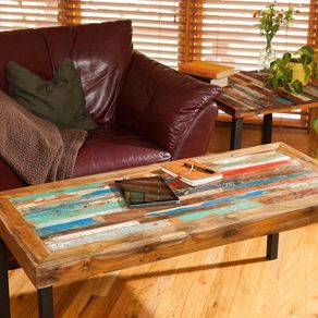 Reclaimed Wood Coffee Table  Teak Bali Boat For Living Room Custom Tables Handmade CustomMade com