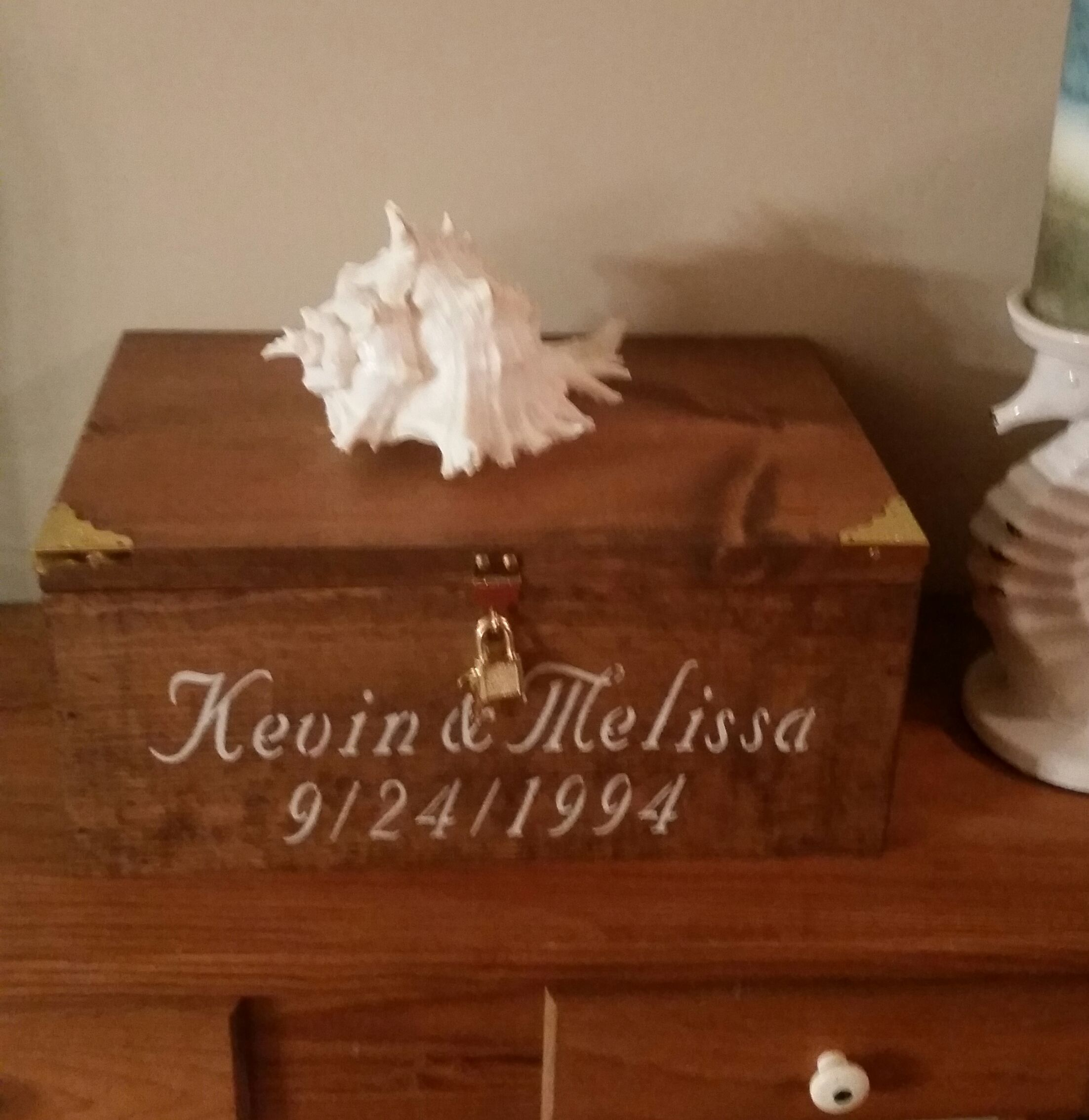 Buy a Hand Made Personalized Wedding Card Box Medium Sized, made to ...