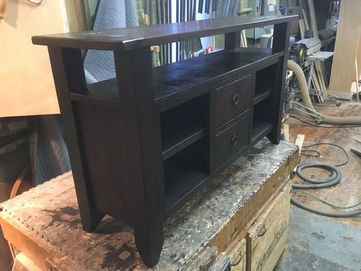 Custom Made Media Center Made From Reclaimed Wood